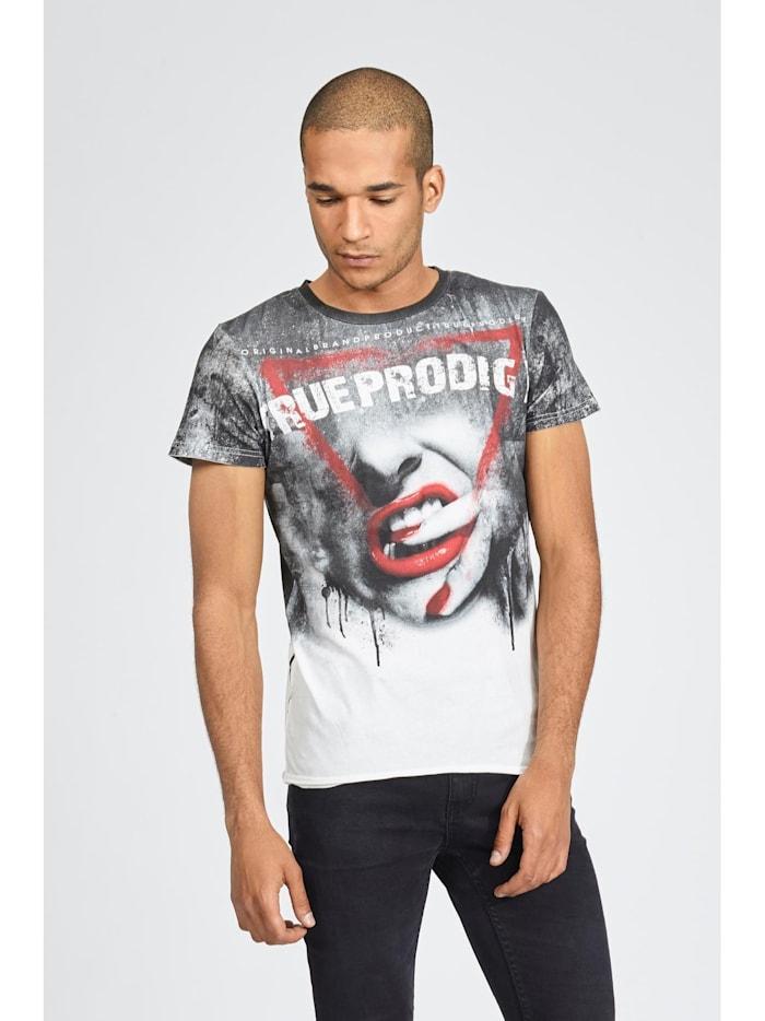 trueprodigy T-Shirt Red Lips mit auffälligem Frontprint, 8005-offwhite