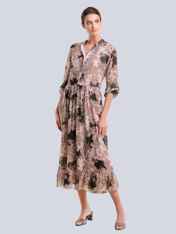 Alba Moda Kleid im exklusiven Druck von Alba Moda, Braun/Haselnuss