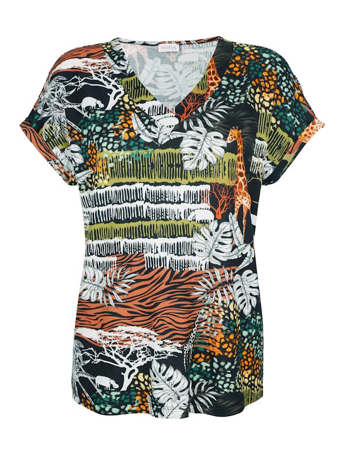 T-shirt à imprimé de style safari