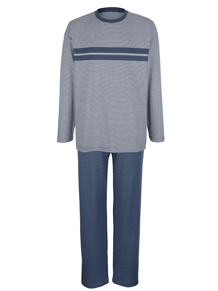 BABISTA Schlafanzug mit garngefärbten Streifen, Blau/Grau