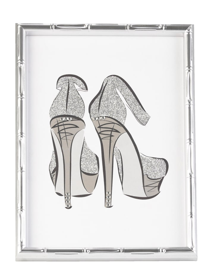 MARAVILLA Bild, Highheels, Silberfarben/Weiß