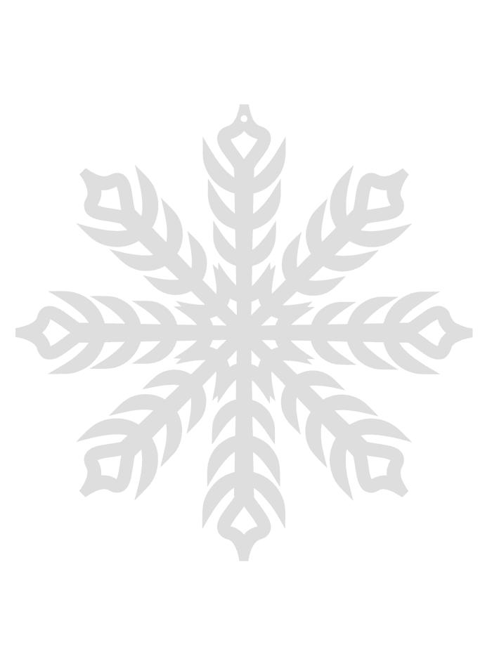 Queence Hänger, Schneeflocke, Weiß