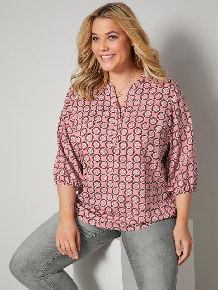 Tunika-Bluse aus reiner Viskose