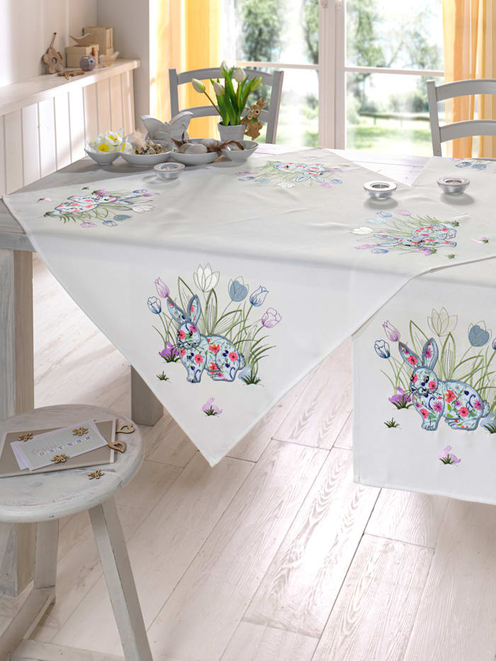 Schäfer Linge de table Lapins, Multicolore