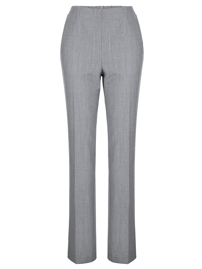 Pull-on trousers made from warm wool