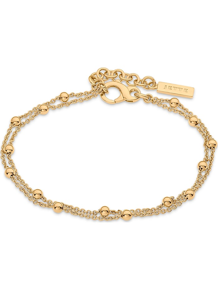 Jette JETTE Damen-Armband Lucky Charm 925er Silber rhodiniert, gold