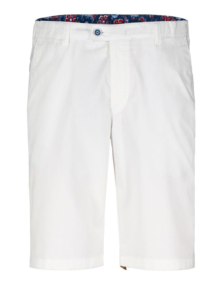 BABISTA Shorts med justerbar linning (+ 7 cm), Vit