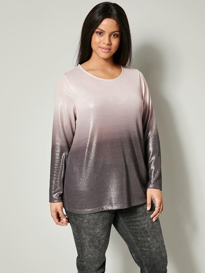 Angel of Style Shirt met kleurverloop, roze/grijs
