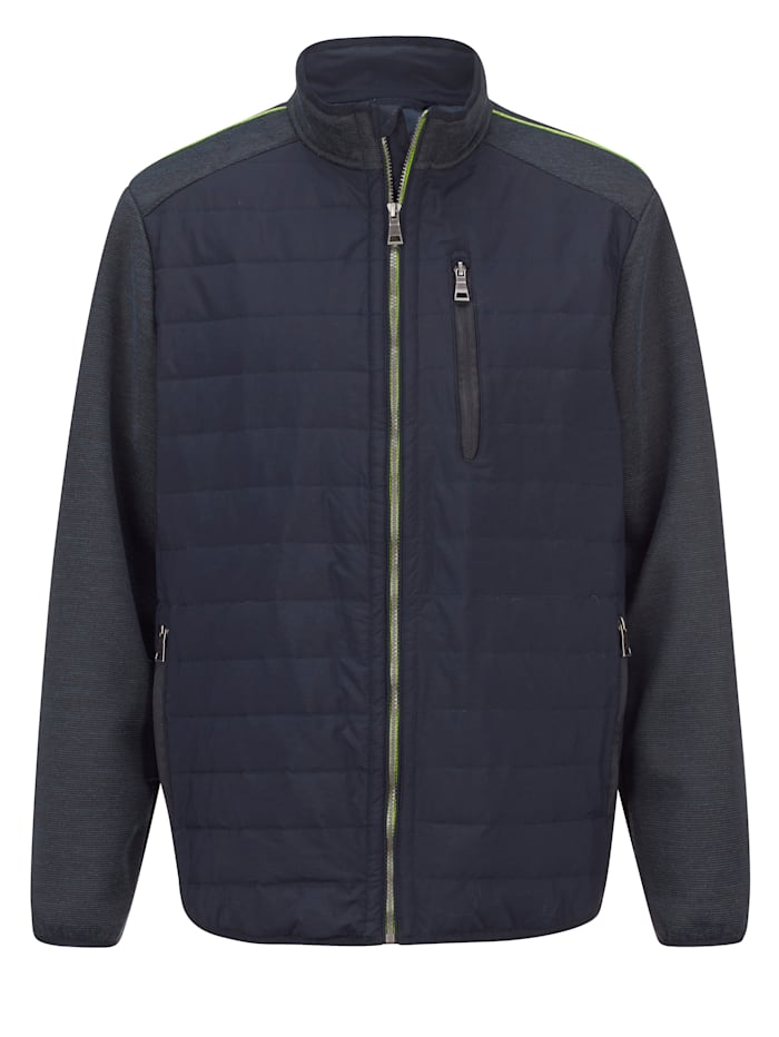 Hybrit-Jacke mit Stehkragen