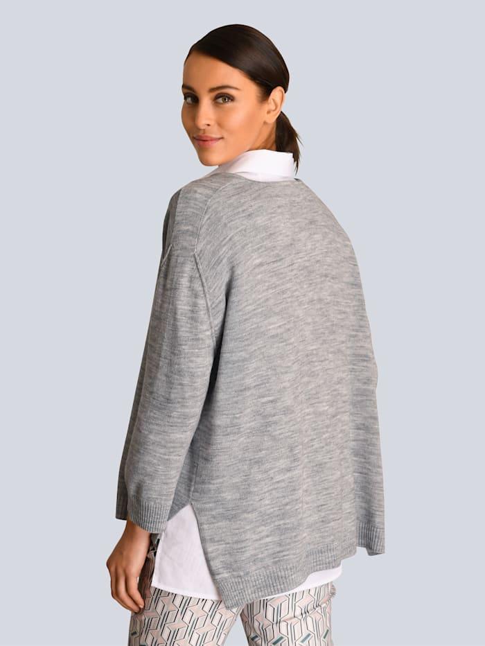 Alba Moda Pullover in modischer Boxy-Form, Grau