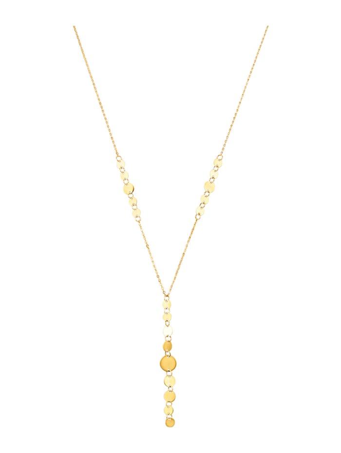 Collier en Y en or jaune 375, Coloris or jaune