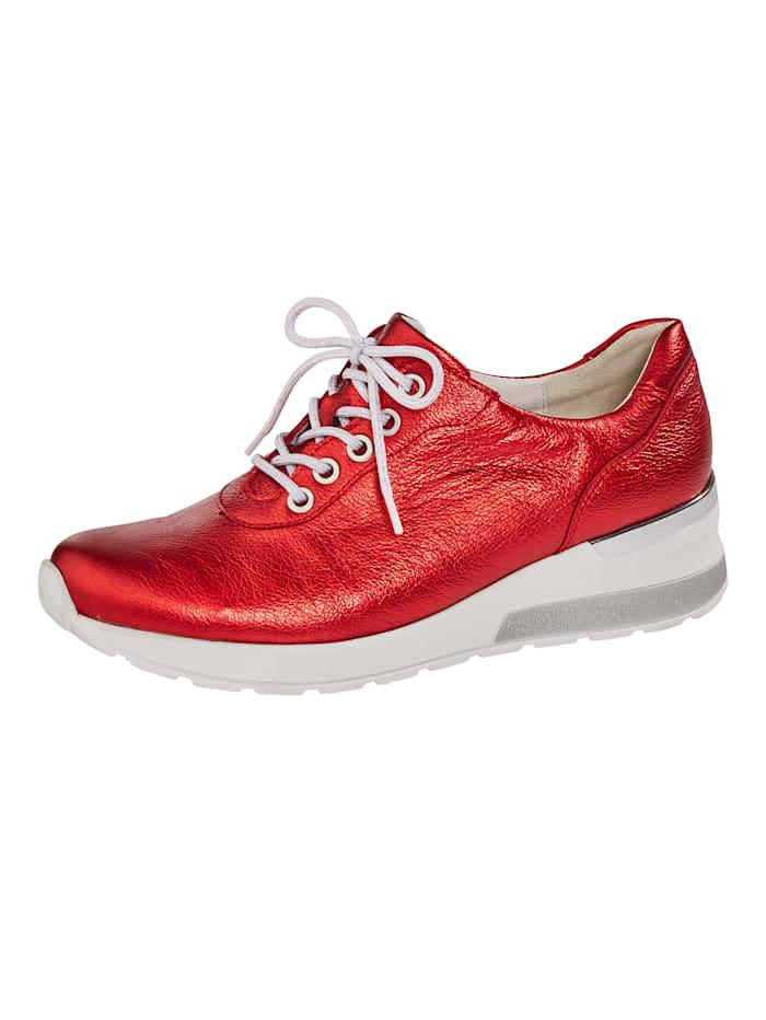 Waldläufer Schnürschuh in vielen modischen Kombinationen, Rot