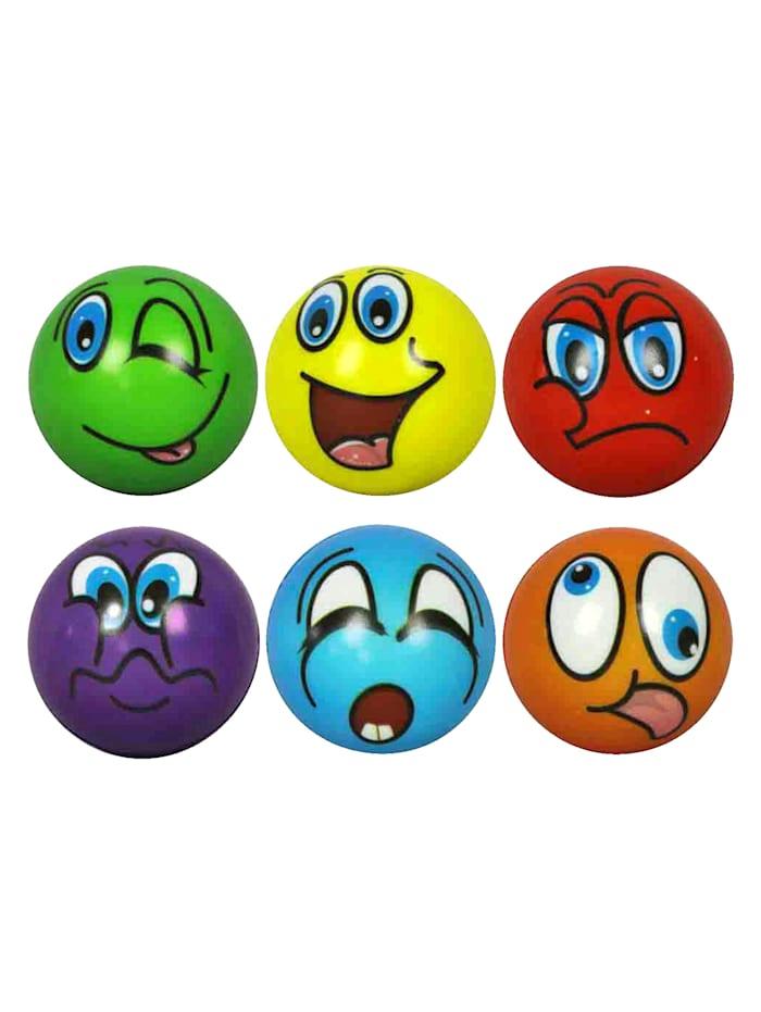 Lot de 6 balles anti-stress, multicolore