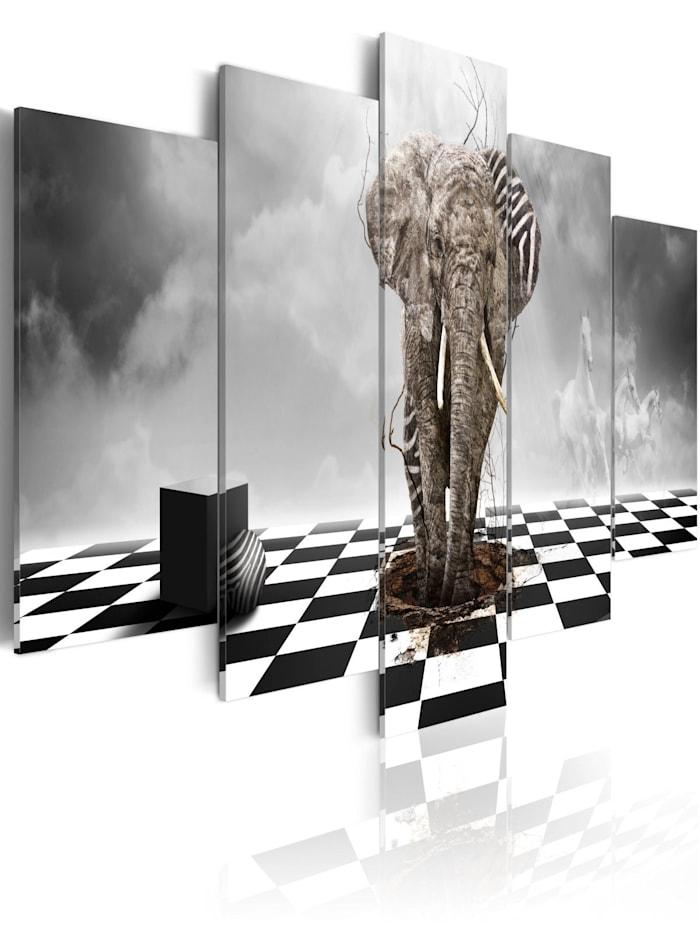 artgeist Wandbild Flucht aus Afrika II, schwarz-weiß,Grau