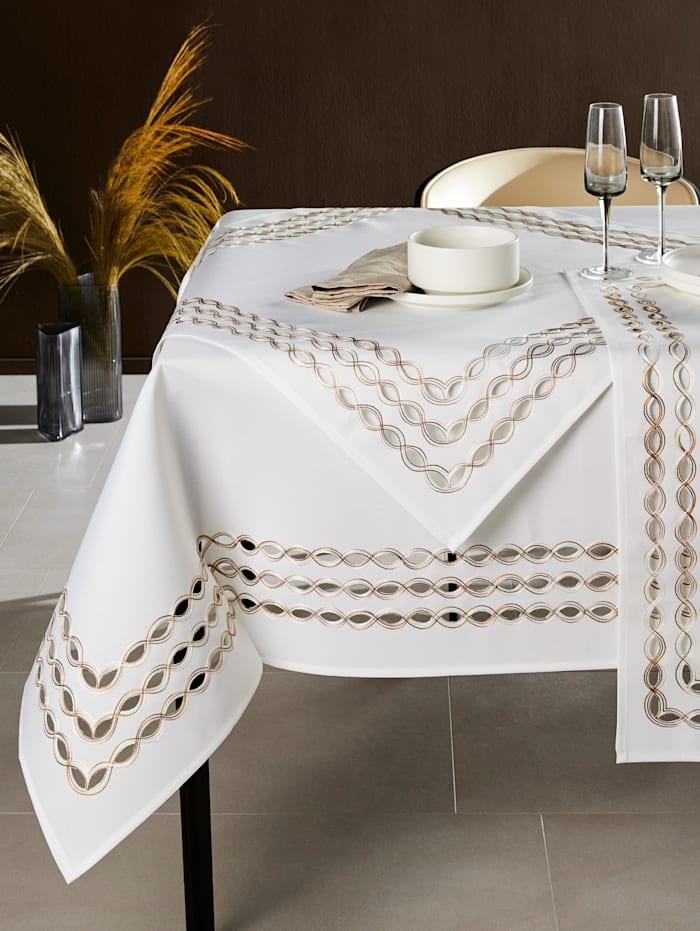 Webschatz Tischwäsche 'Soraya', Champagner