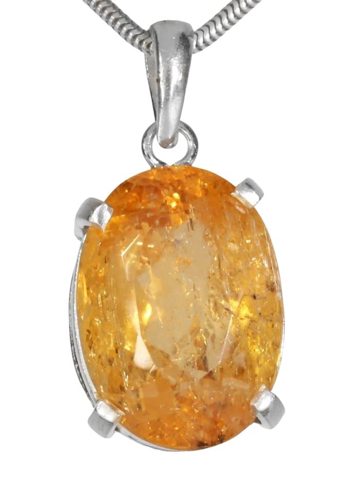 1001 Diamonds Goldtopas Anhänger 925 Silber, gelb