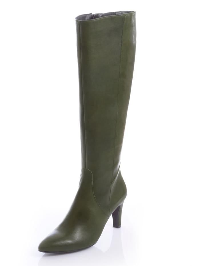 Alba Moda Stiefel in angesagter Farbstellung, Grün