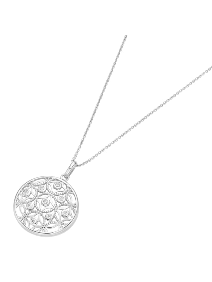 Smart Jewel Kette rund, Ornamente, Silber 925, Weiss