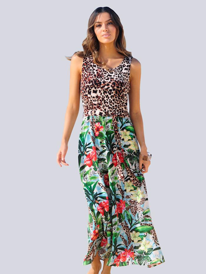 Alba Moda Strandkleid im Material- und Mustermix, Multicolor