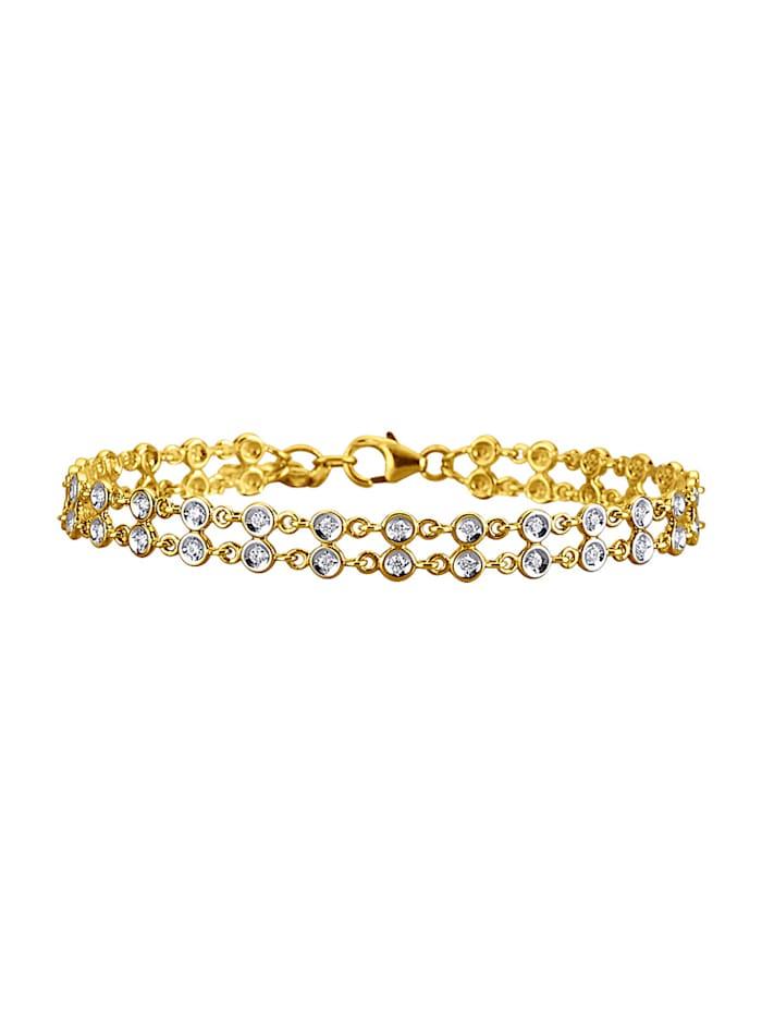 Diemer Diamant Armband mit 50 Brillanten, Gelbgoldfarben