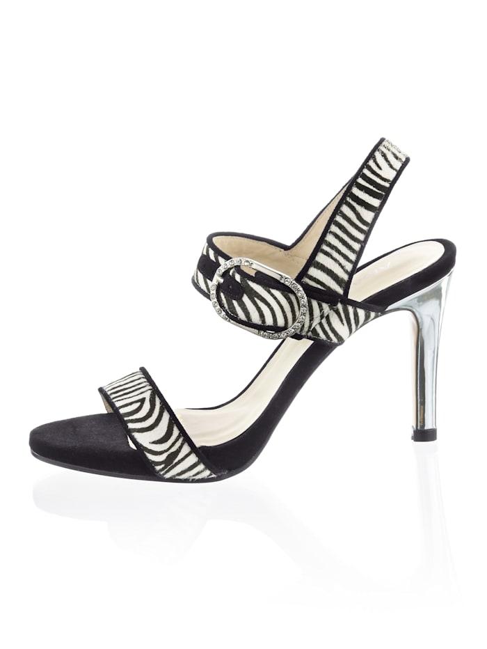Sandalette im angesagten Zebradessin