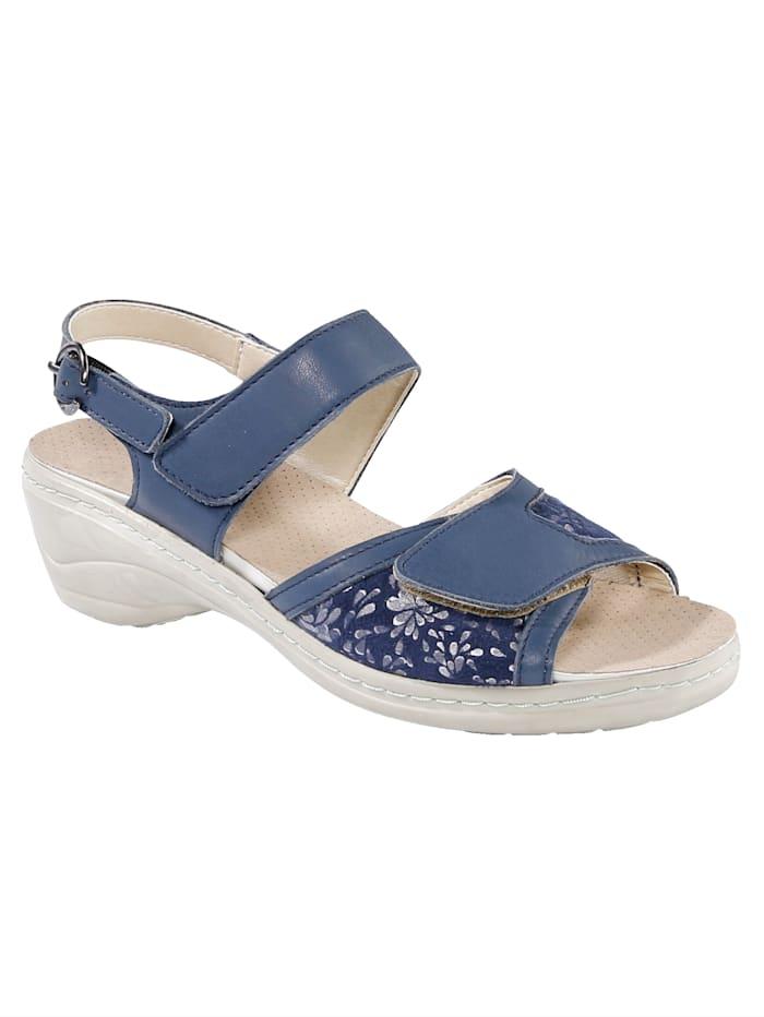 Sandales avec bandes auto-agrippantes réglables