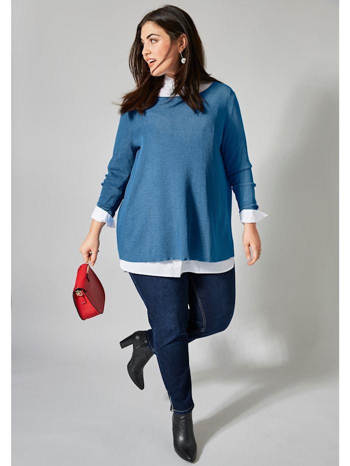 Pullover mit Plissee
