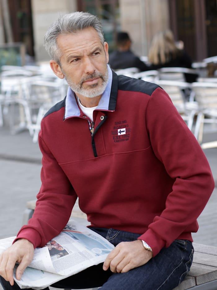 BABISTA Sweatshirt met luxueuze kraag, Rood