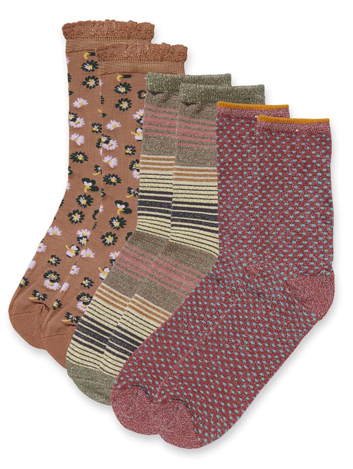 Becksöndergaard Socken-Set, 3-tlg., Oliv
