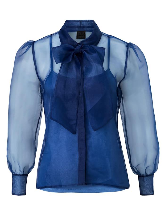 REKEN MAAR Bluse, Jeansblau