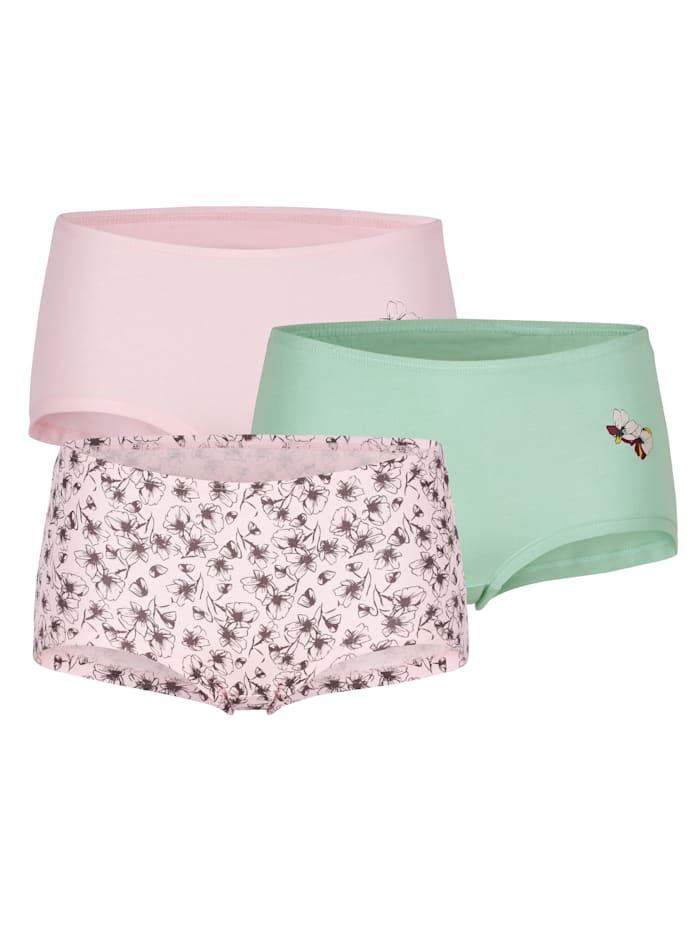 Harmony Panties par lot de 3, Rose/Jade