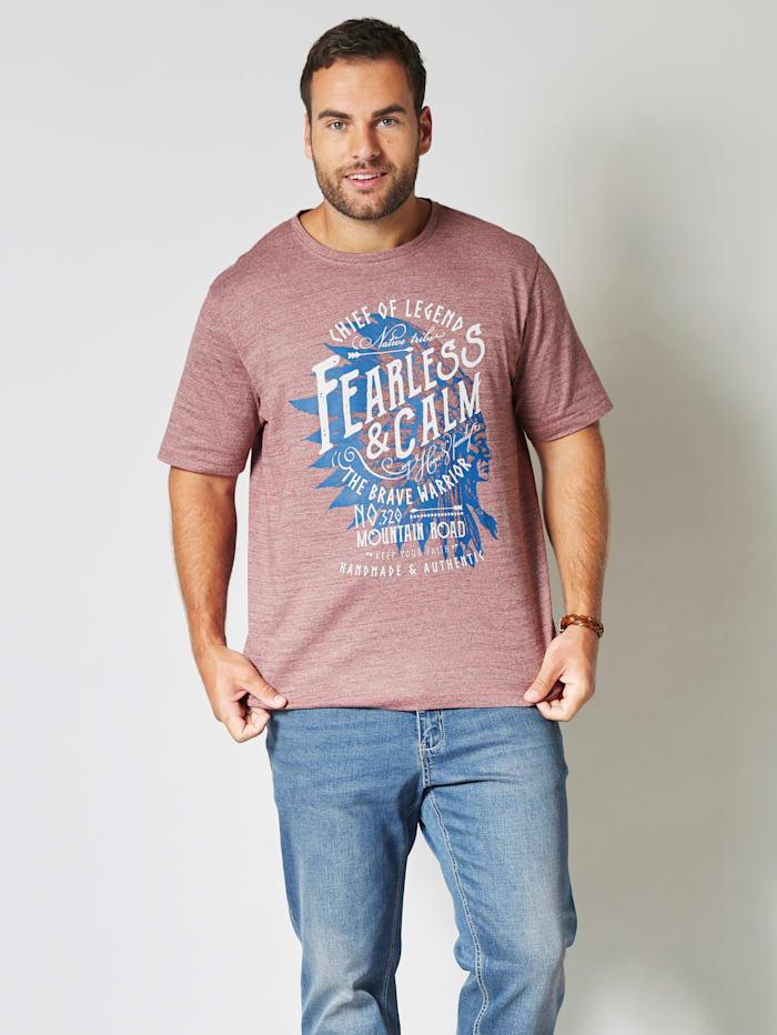 T-Shirt in melierter Optik