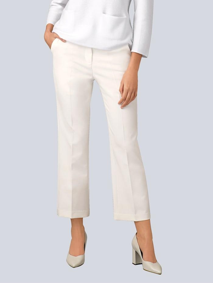 Alba Moda Hose mit abnehmbarem Bindegürtel, Off-white