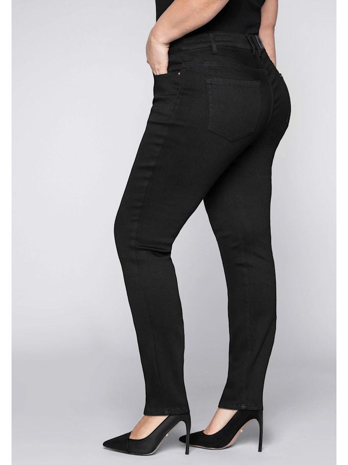 Sheego Jeans Skinny mit Bodyforming-Effekt, black Denim