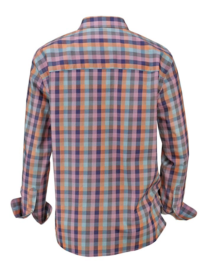 Hemd mit bedrucktem Karodessin