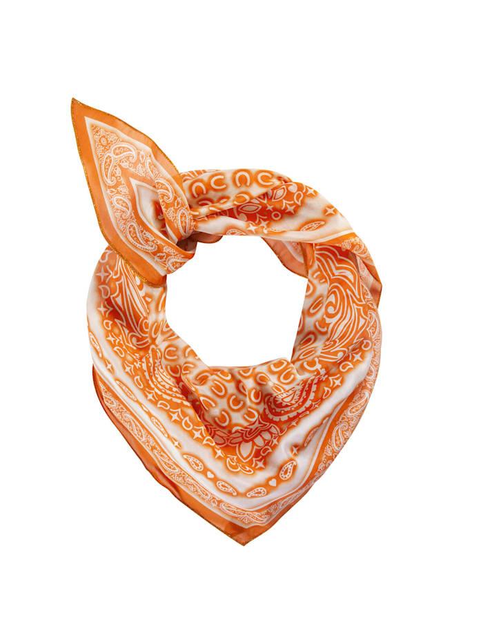 Codello Premium Tuch aus feinster Baumwolle und Seide, orange