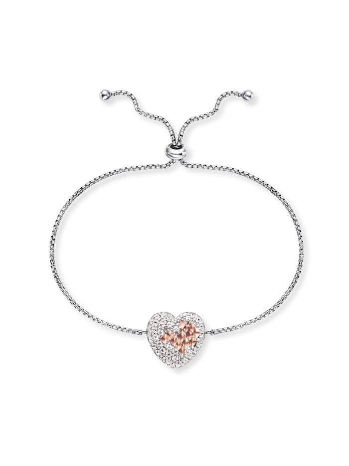Engelsrufer Damen-Armband Silber Herz mit Zirkonia, Multicolor