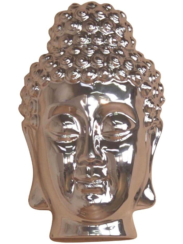 Möbel-Direkt-Online Buddhamaske Silber, silber