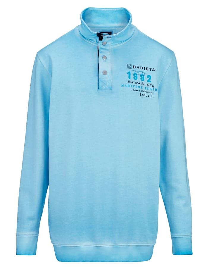 BABISTA Sweat-shirt à effet usé tendance, Turquoise