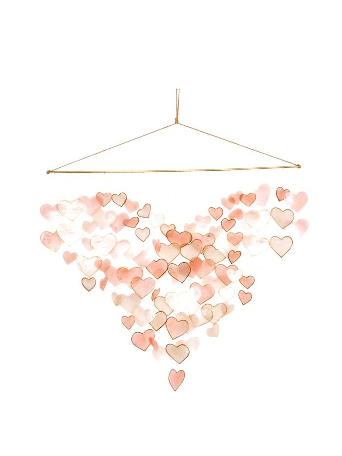 IMPRESSIONEN living Wand-Deko, Capiz, rosé/pink/naturfarben