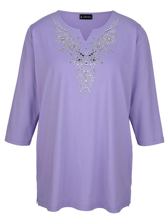 Shirt met sierpailletten