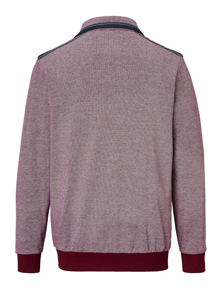 Sweatshirt in zweifarbiger Reiskorn-Struktur