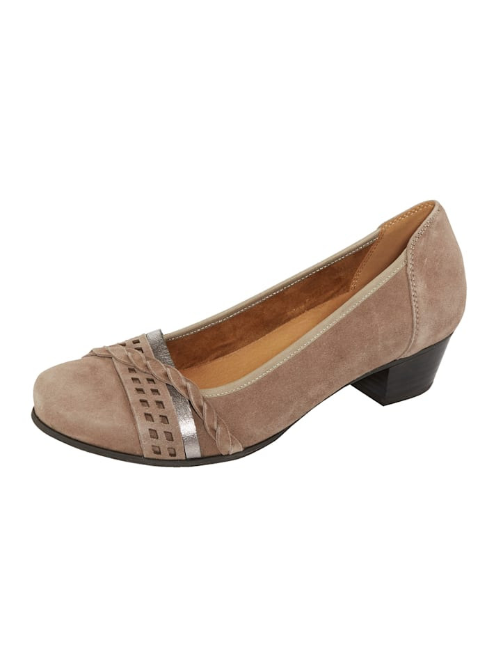 MONA Court shoes with a flexible sole, Taupe