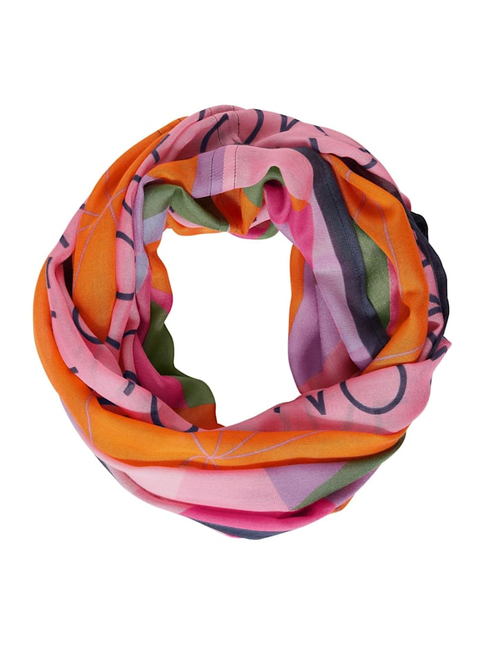 Street One Loop mit Multicolour Print, blazing orange