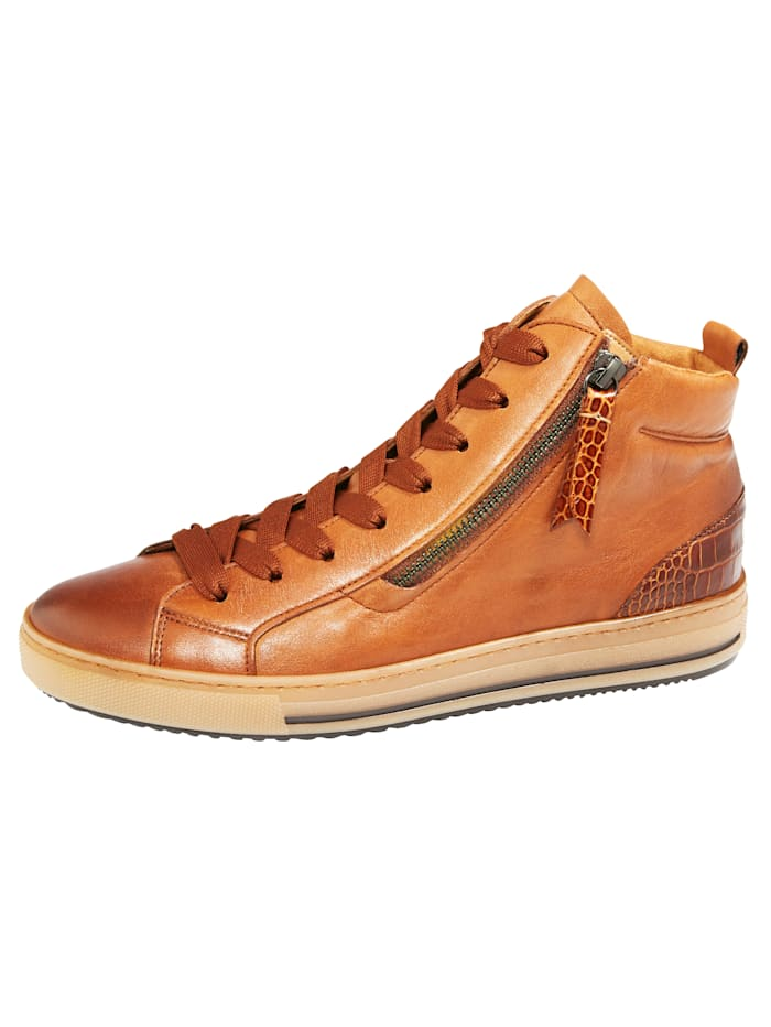 Gabor Hoge sneaker in sportief model, Cognac