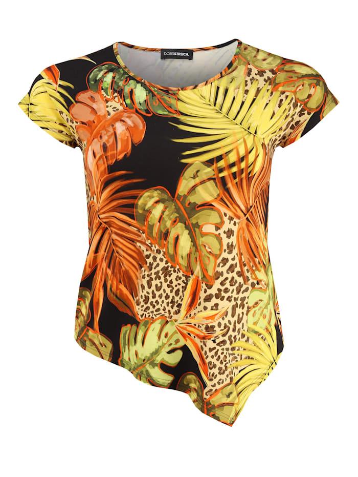 Doris Streich Shirt mit asymmetrischem Saum ., multicolor