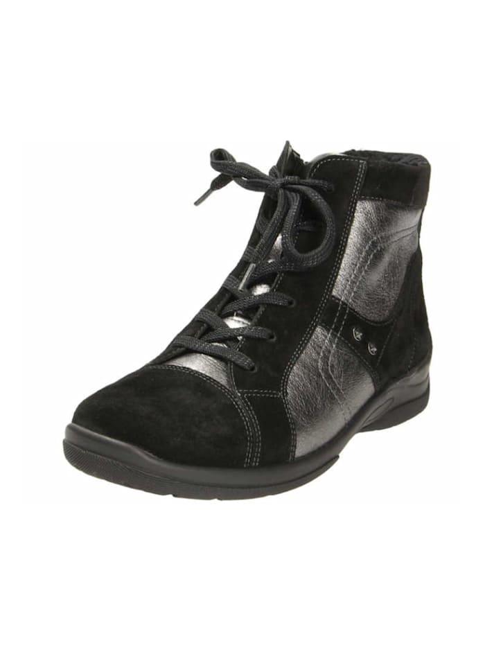 Waldläufer Damen Stiefelette in schwarz, schwarz