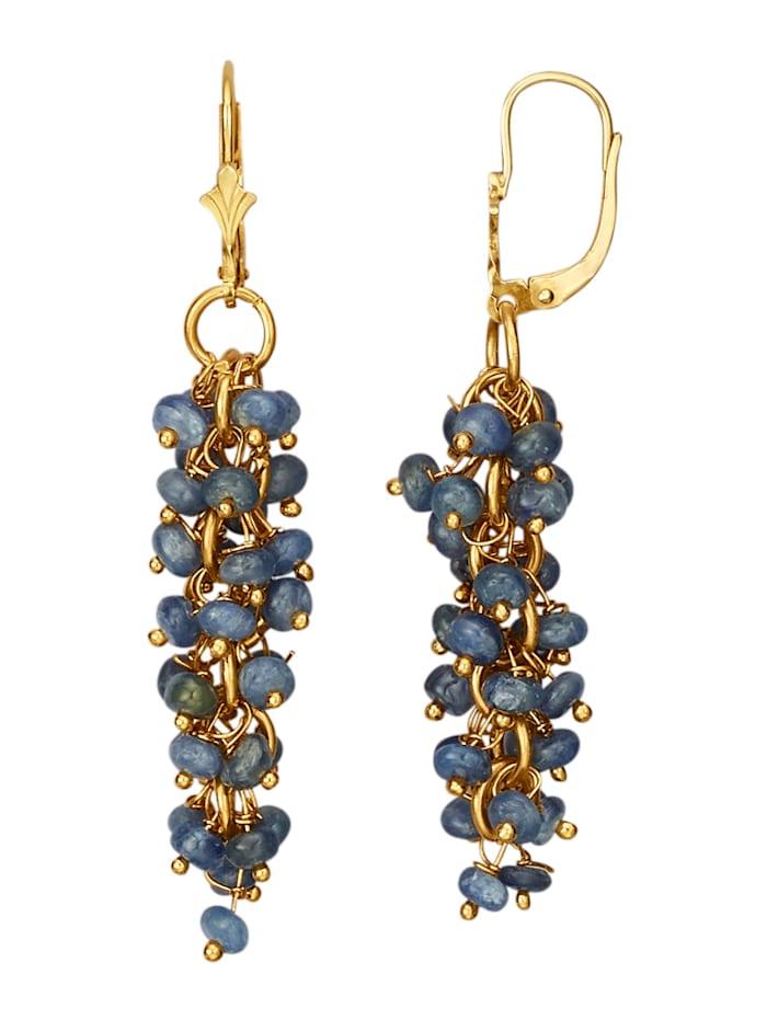 KLiNGEL Ohrringe mit Saphiren, Blau