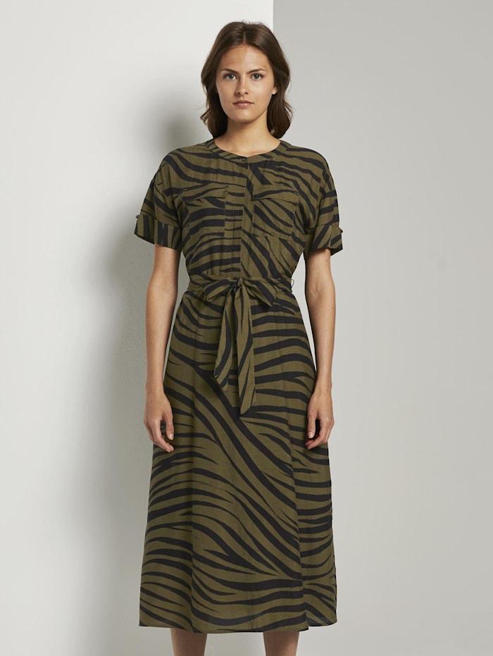 Tom Tailor mine to five Maxikleid im Zebra-Muster, olive zebra design