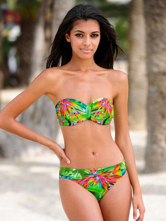 Bandeau-Bikini mit Dschungeldruck